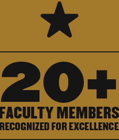 20+ Faculty Members Recognized for Excellence