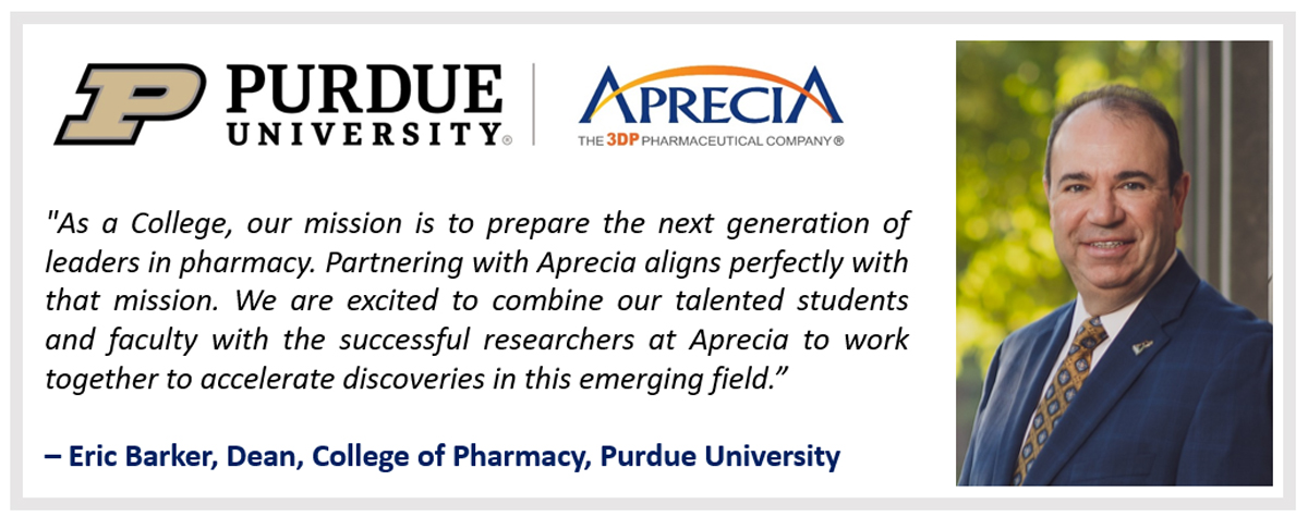 Aprecia and Purdue Graphic