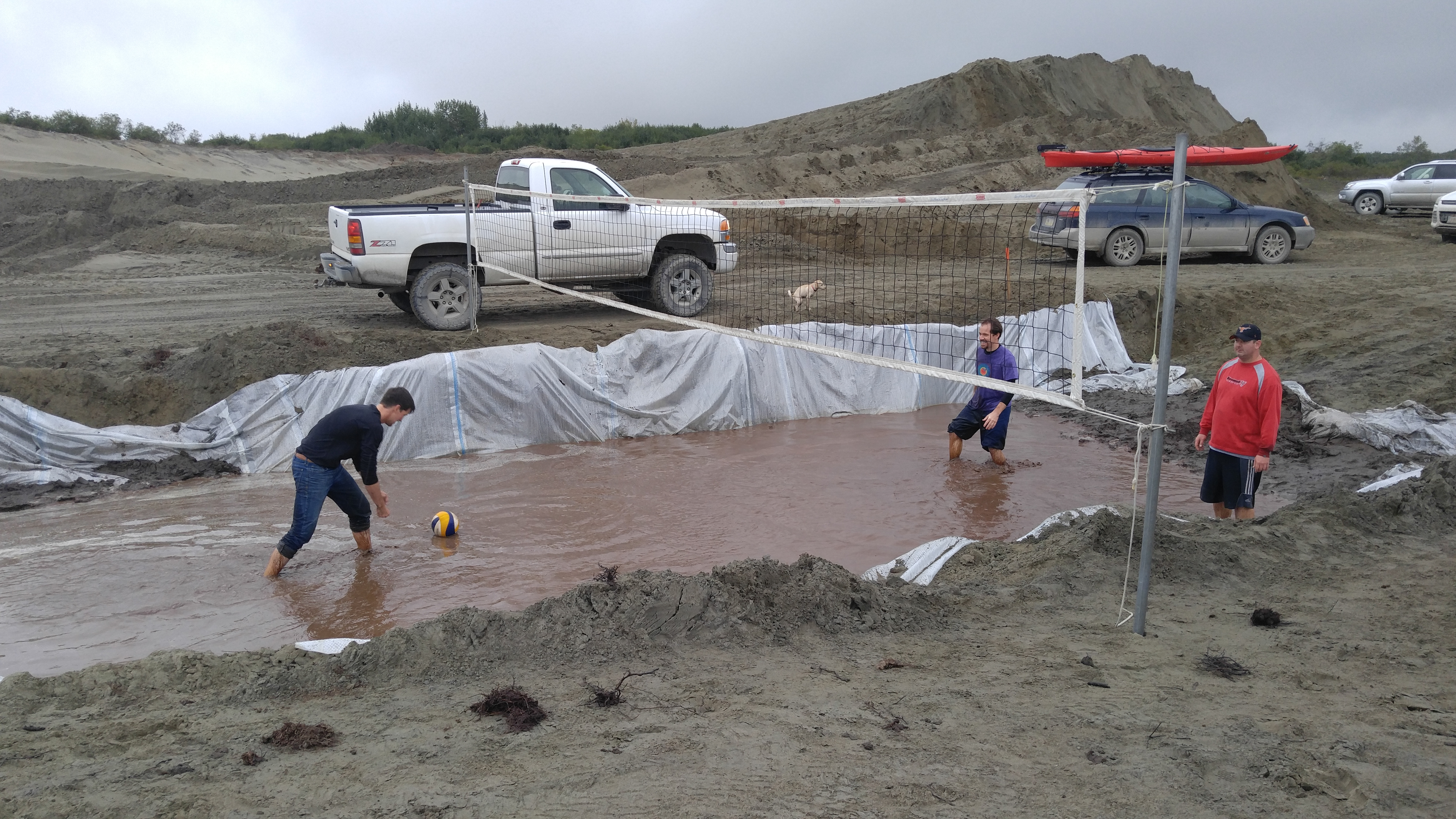 Flooded volleyball