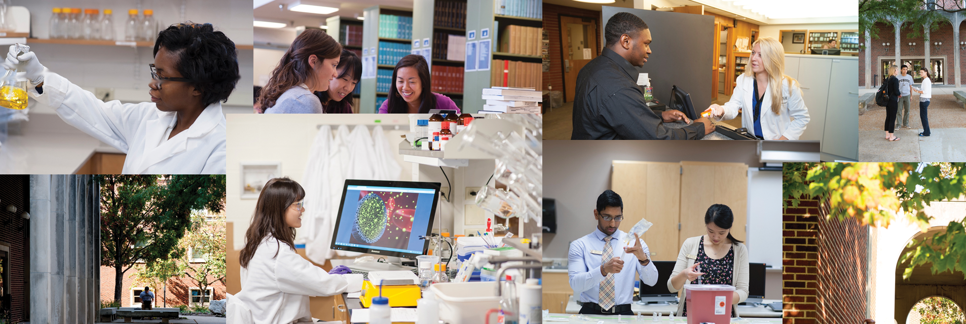 Montage of graduate students