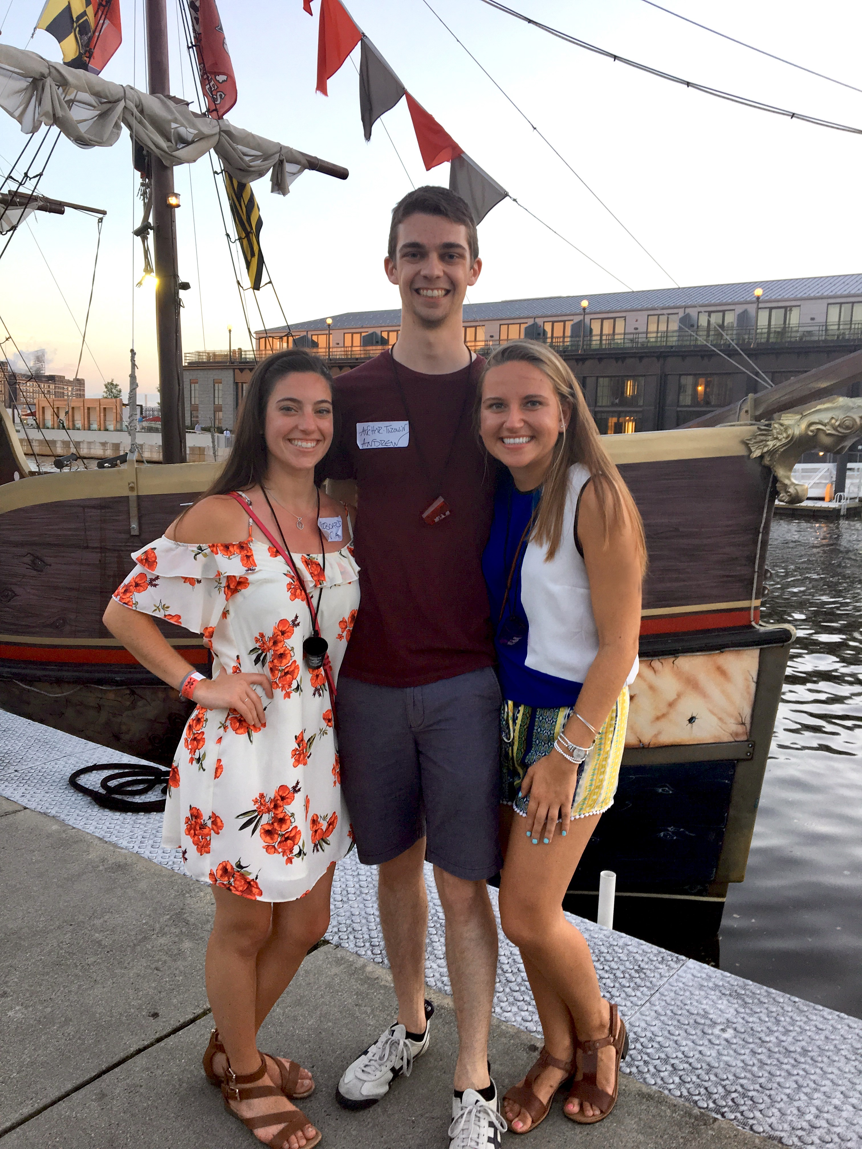 Photo of Olvia Walker, Andrew Smith, and Olga Vlashyn in Baltimore