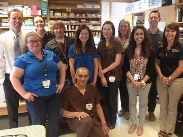 Photo of Preceptors and Students at the Ethel Lund Medical Center