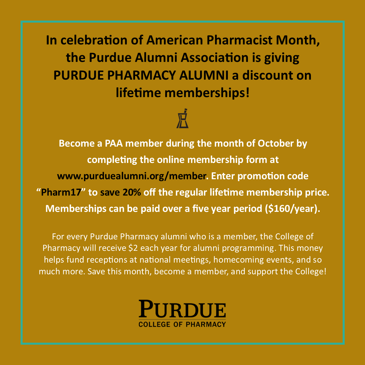 Purdue Alumni Association recruiting advert
