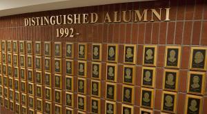 Distinguished Alumni plaques