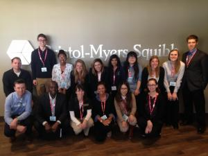 Group photograph during Bristol-Myers Squibb visit