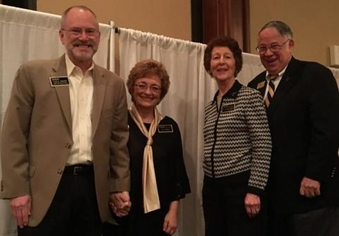 Dean Craig and Sue Svensson with Jeannie and Jim Chaney. The Chaneys announced their gift during the brunch to fund the Craig K. and Sue J. Svensson Endowment for the Future.