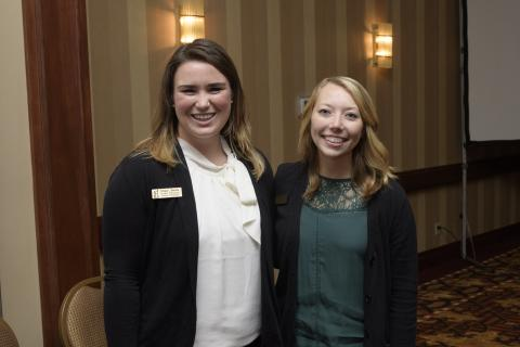 Megan Bereda and Shelby Wilkinson, student emcees