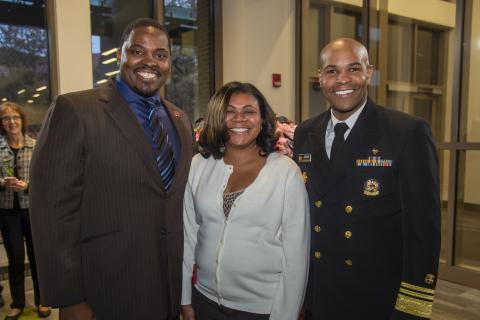 VADM Jerome M. Adams, U.S. Surgeon General and Drs. Warren and Aneasha Moore