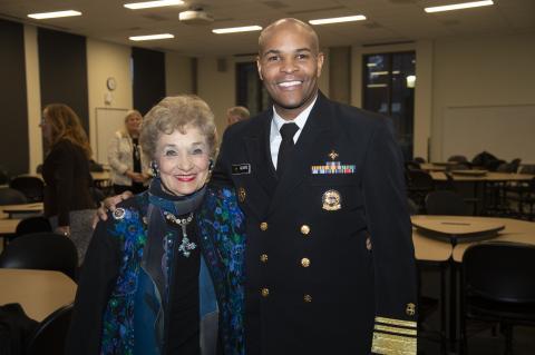 VADM Jerome M. Adams, U.S. Surgeon General and Sheila Klinker