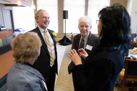 photo of distinguished alumni luncheon